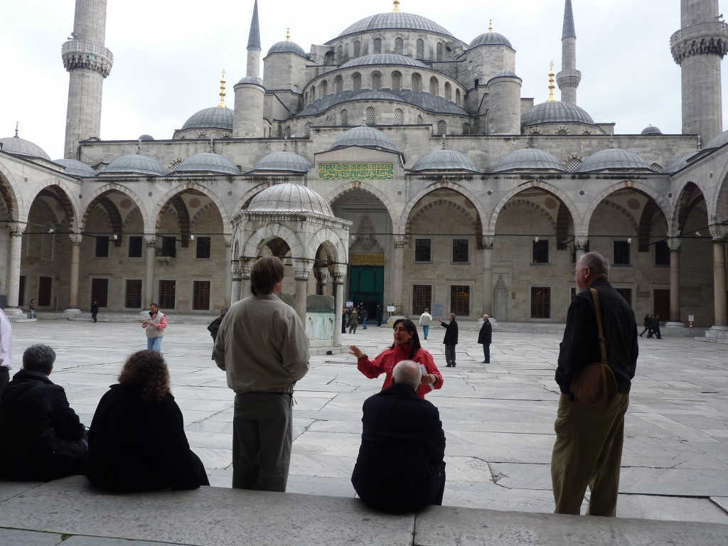 Turkey group visit to Blue Mosque