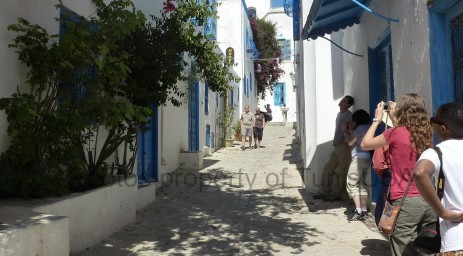 Enjoying the Andalusian inspired architecture of Sidi Bou Said