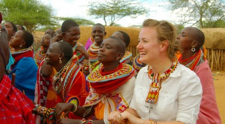 Visiting with the Masai