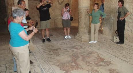 Viewing mosaics, in situ, at Bulla Regia