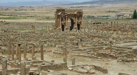 Timgad's street grid is an excellent example of Roman planning