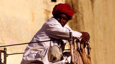 Elephant herder in Jaipur. Photo courtesy of Robert Weldon