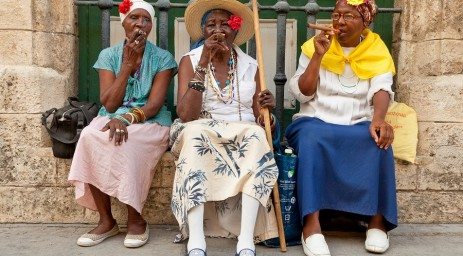 CUBA bigstock-HAVANA-MAY--Old-ladies-with--26567936