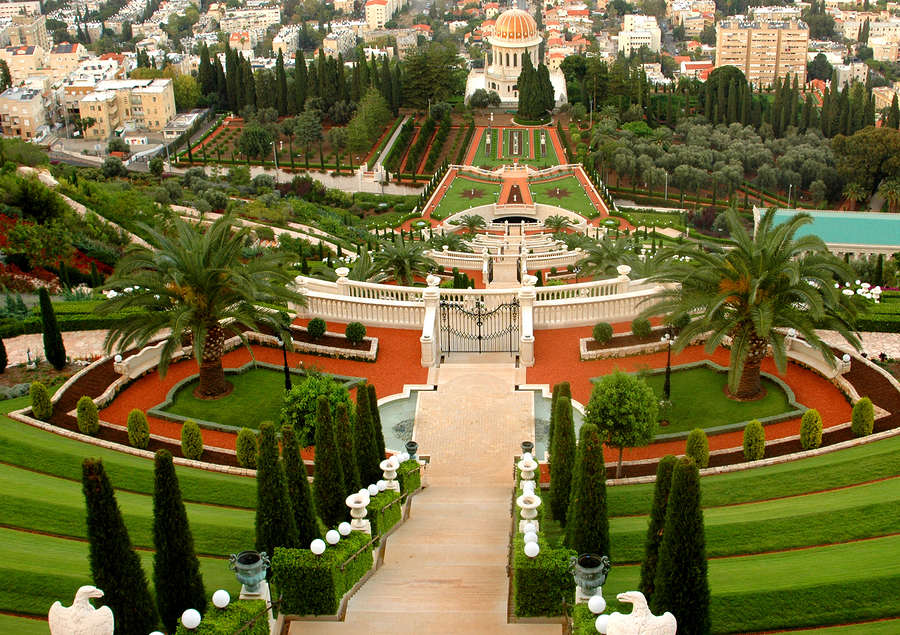 View of the Bahai Gardens. Israel