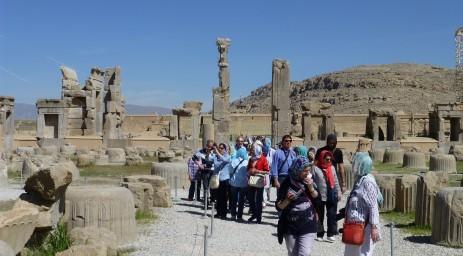 Iran Exploring the amazing site of Persepolis P1020623. Property of Jerry Sorkin