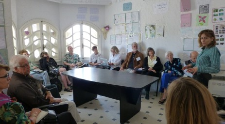 Visiting an NGO to learn about Tunisia's programs for women...