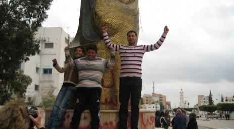 Tunisia's Revolution monument in Sidi Bou Zid