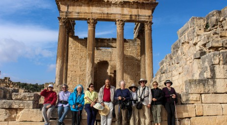 AIA 2014 group at the ruins of Dougga in Tunisia