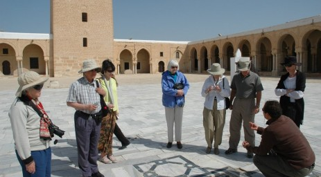 Learning about the sundial at the Great Mosque of Kairouan