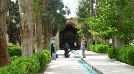 In Kashan Iran, the Shotor Galou-e-Fath-alishahi palace in the Fin Gardens