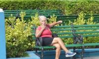 A Cuban lady enjoying her cigar.