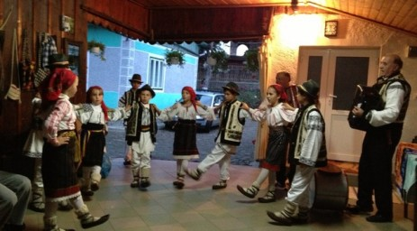 Romanian children in a dance performance