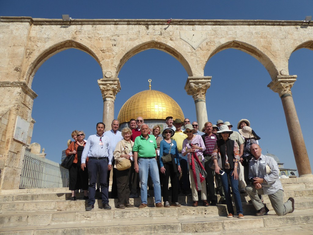 World Affairs Council at the Dome of the Rock, also known as The Noble Sanctuary. Jerusalem, Israel