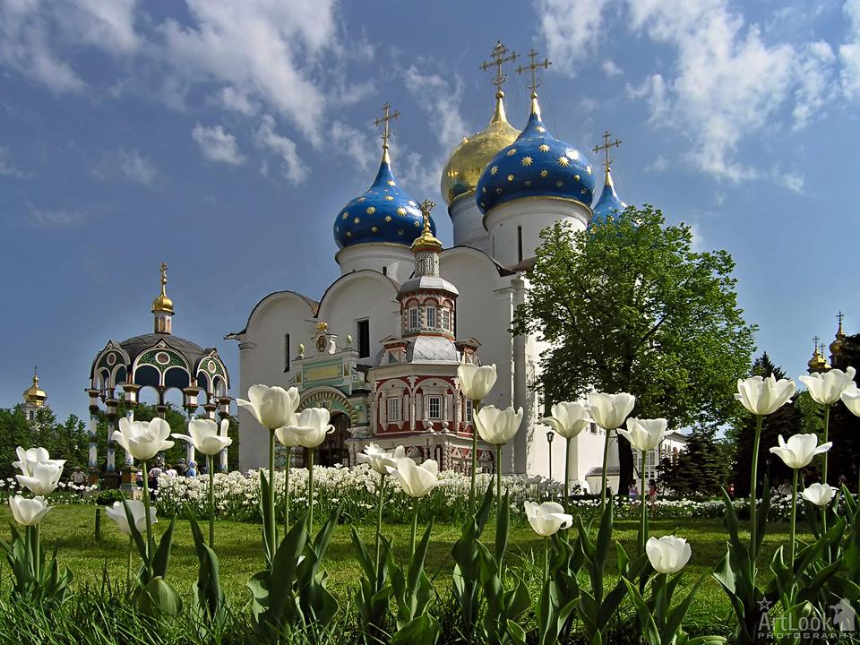 Holy Trinity Monastery of St. Sergius in Sergiyev Posad in Spring.