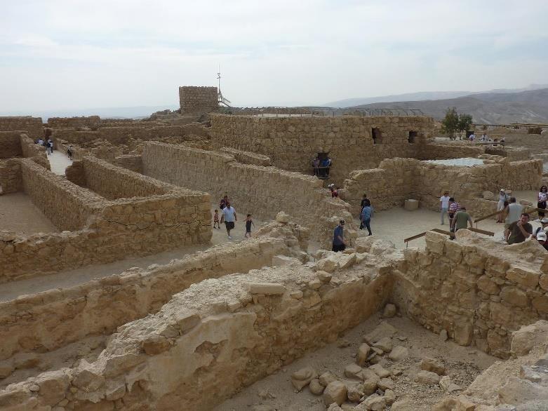 Housing grid atop Masada.