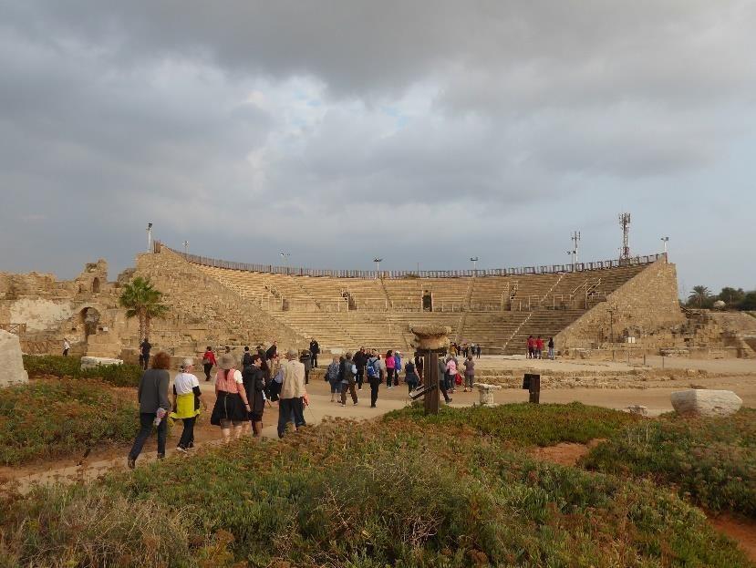 Visiting Caesaria.