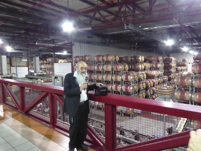 Visiting a winery and learning about the kashrut process.
